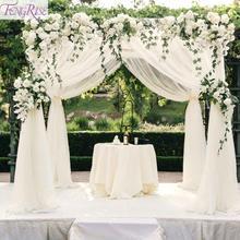 FENGRISE DIY Organza Swag Fabric Photo Background Yarn Home Decoration Backdrop Curtain Romantic Wedding Tablecloth