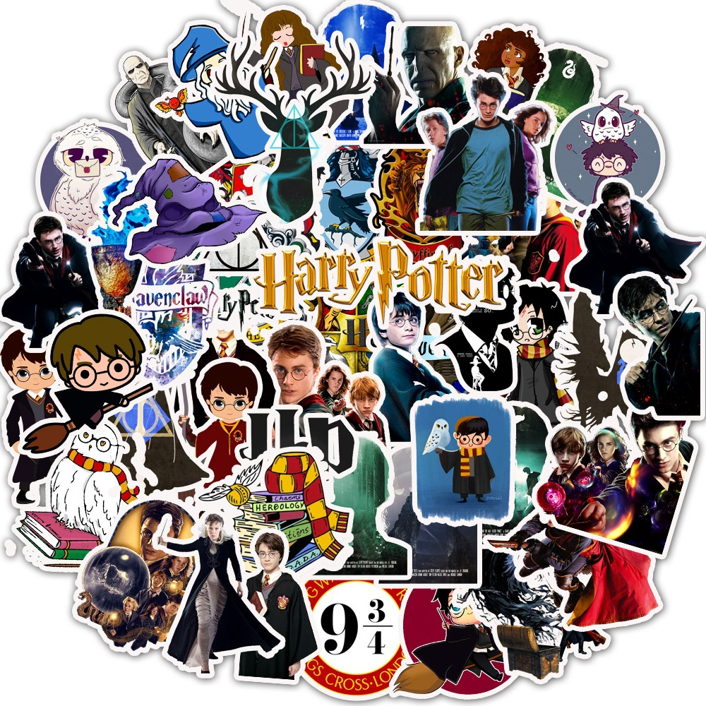 50 Pcs Funko Harry Potter Cartoon Graffiti Stickers School For Laptop Guitar Motocycle Luggage Skateboard Doodle Decor Sticker