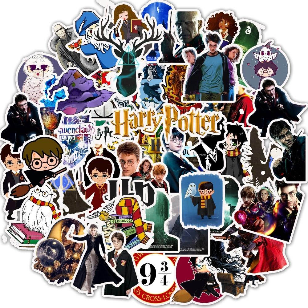 50 Pcs Funko Harry Potter Cartoon Graffiti Stickers School For Laptop Guitar Motocycle Luggage Skateboard Doodle Decor Sticker