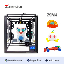 ZONESTAR Newest Multi Mixing Color 4 Titan Extruders 4-IN-1-OUT 32-Bit Board Large Size