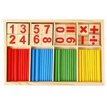 1set Montessori Wooden Number Math Game Sticks Mathematics Early Learning Counting Educational Toys Children Kids Gifts HOT candice guo montessori match operate game colorful educational wooden toy mathematics digit figure stick 1set
