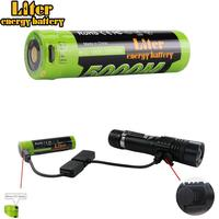 Sales promotion flashlight + 18650 USB 3.7V 3500MAH Power Bank USB Port Light External Battery cellphone power bank