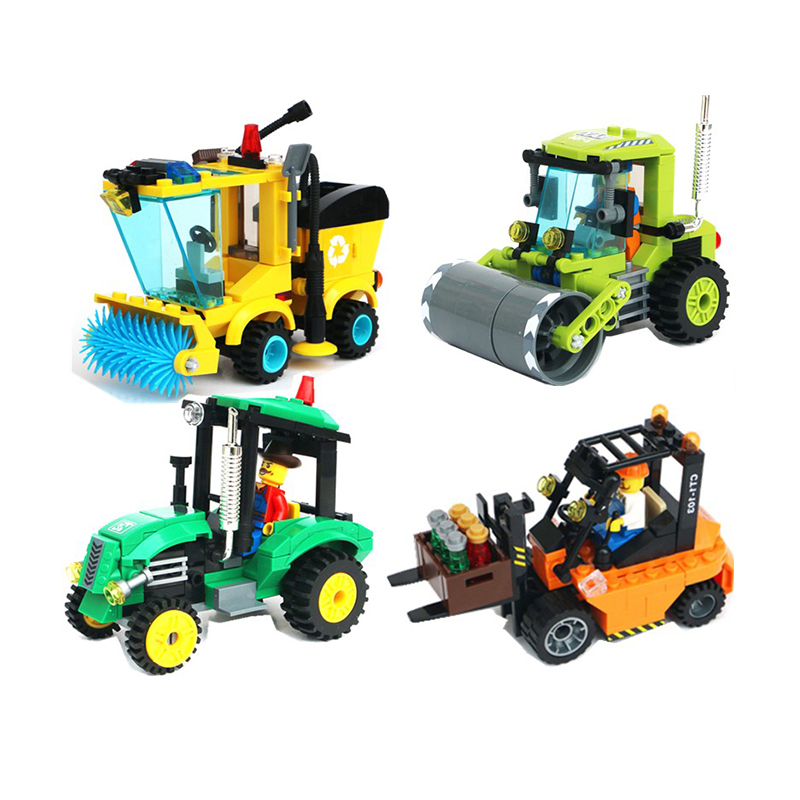 Civilized City Sweeper 4 Type Legoings Model Building Blocks Toy Kit DIY Educational Children Birthday Gifts