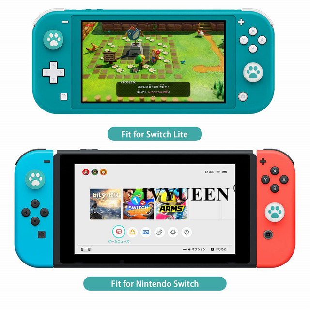 IVYUEEN for Nintendo Switch Lite Animal Crossing Analog Thumb Grip for Nintend Swith Joy Con JoyCon Controller Joystick Cap Game 4