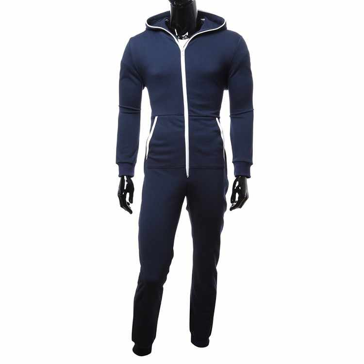 חורף ובסתיו גברים סלעית Onesies פיג 'מה Kigurumi אלגנטי מוצק לשמור חם ורך Onepieces Homewear מזדמן Nightwear