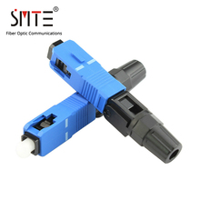 Conector de fibra óptica, 100 unids/lote, SC UPC, NPFG, 60mm, 0,3 dB, SC UPC, conector rápido