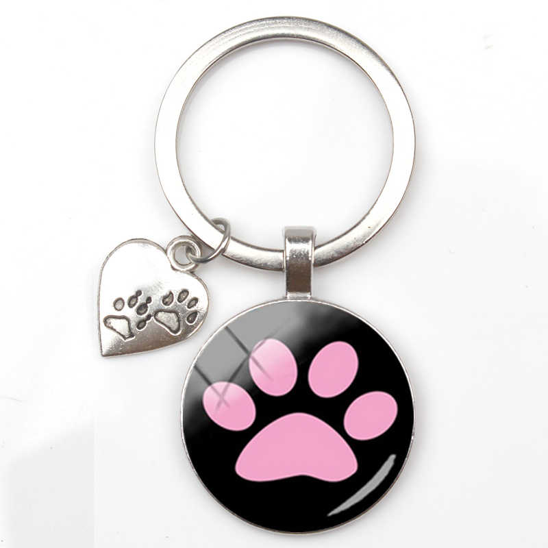 Baru Cinta Liontin Gantungan Kunci Kaki Gantungan Kunci Anjing Beberapa Berlapis Perak Gantungan Kunci untuk Teman-teman Natal Hadiah untuk Teman