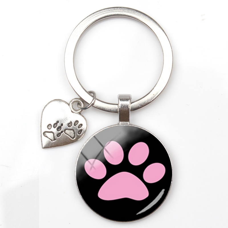 Keychain Personalize Tag Infinity Love Paw Heart Dog Puppy Cat Kitten Rescue