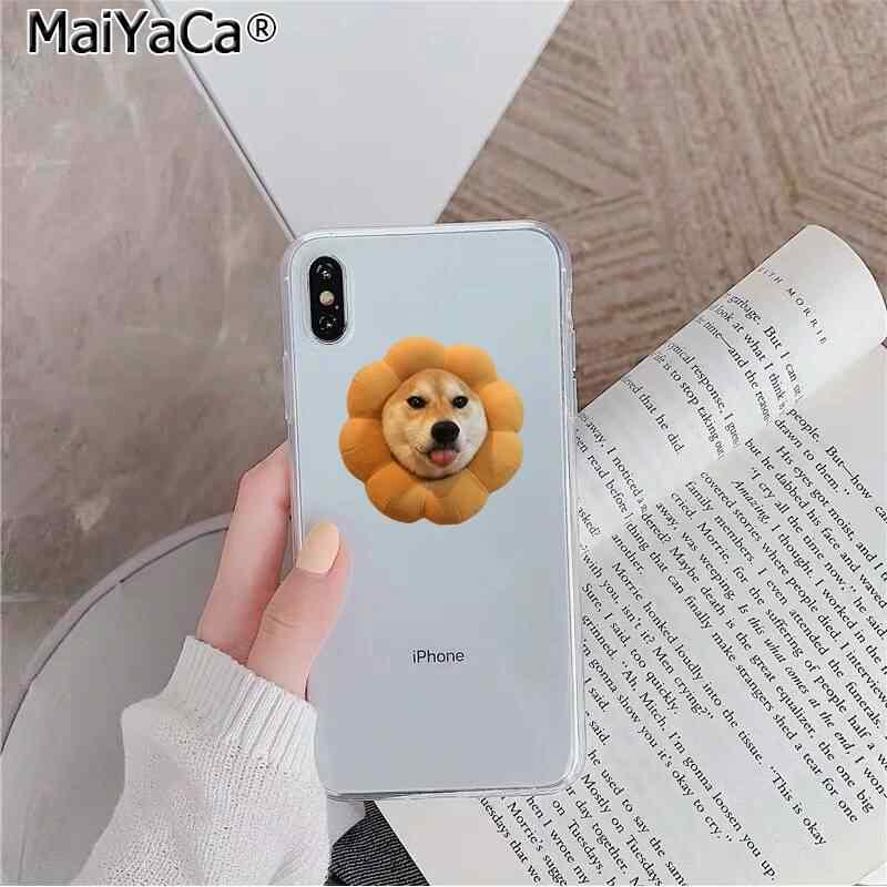 MaiYaCa かわいい動物柴犬犬ソフトシリコンケース TPU 電話カバー iphone 11 プロ XS 最大 8 7 6 6S プラス X 5 5S 、 SE XR カバー