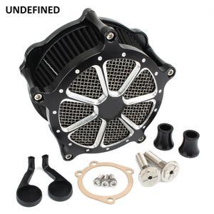 Image 2 - Preto cnc filtro de ar da motocicleta venturi corte sistema de admissão de ar mais limpo para harley sportster ferro 883 xl1200 xl883 48 72 1991 2019