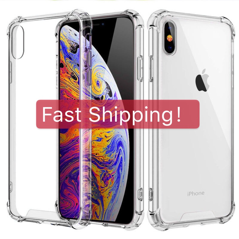 Soft TPU Clear Case for iphone 6 6s 7 8 Plus X XS XR 11 Pro Max 5 se Transparent Anti-Scratch Hard Silicone Bumper Back Cover image