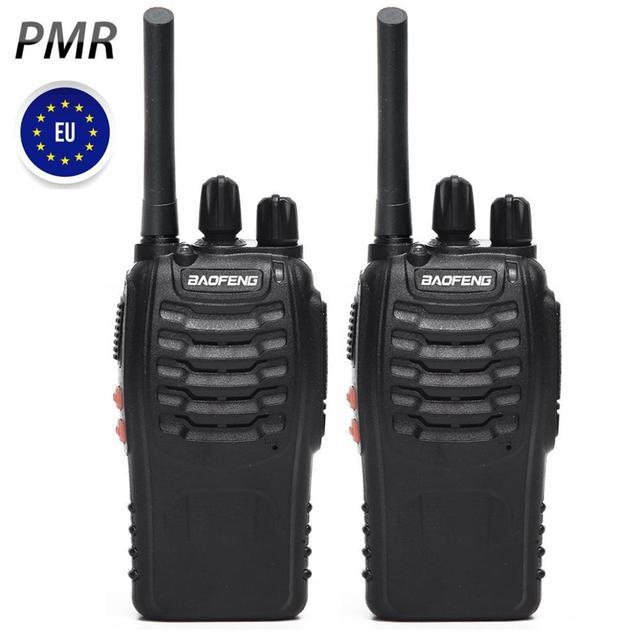 2PCS Baofeng BF 88E PMR 446 Walkie Talkie 0.5 W UHF 446 MHz 16 CH Palmare Ham Two way radio con Caricatore USB per Utente UE