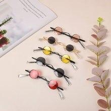 Retro Mini okulary okrągłe mężczyźni metalowa rama okulary małe okrągłe oprawione okulary mężczyźni kierowcy gogle akcesoria samochodowe nowy