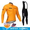 2019 STRAVA hiver thermique polaire cyclisme vêtements NW hommes Jersey costume extérieur équitation vélo vtt vêtements chaud bavoir pantalon ensemble