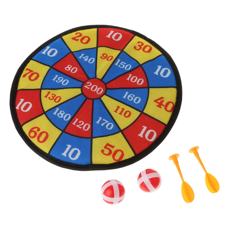 Sports Toys Fabric Dart Board Set Kid Ball Target Game For Children Security Toy Y4QA