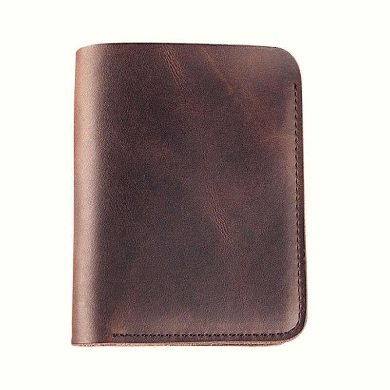 Genuine Leather Handmade Wallet Men  Minimal Cow Leather Mens Wallet Crazy Horse Carteras Hombre Billetera