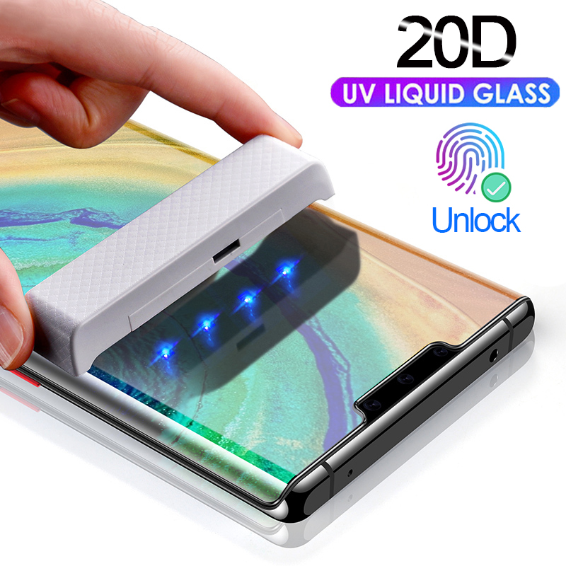 UV Liquid <font><b>Glue</b></font> Curved <font><b>Tempered</b></font> <font><b>Glass</b></font> For <font><b>Samsung</b></font> <font><b>Galaxy</b></font> S8 S9 Plus S10 Lite <font><b>Note</b></font> 8 <font><b>9</b></font> 10 Plus <font><b>Full</b></font> Cover Screen Protector UV Film image