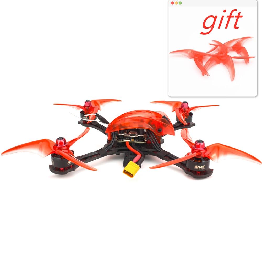 Oyuncaklar ve Hobi Ürünleri'ten Parçalar ve Aksesuarlar'de Emax Babyhawk R pro 4 inç RC uçak F4 Mini Magnum III BLHeli32 3 6s RS1606 3300kv BNF frsky D8 FPV yarış drone hediye'da  Grup 1