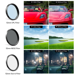 Image 4 - APEXEL 52mm 9in1 Full filter Lens Kits 0.45x wide+15x macro Lens 7in1 Full Blue Red Color Filter+CPL ND Star Filter for phones