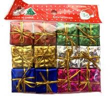 Ornement pour arbre de noël, fournitures de fête, décoration de noël, saint valentin, mariage, sac cadeau pour bonbons, 2.5/3cm, 12 pièces