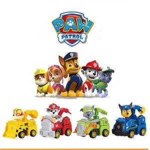 Image 4 - Nuovo paw pattuglia cane anime giocattolo figurine giocattolo di plastica modello di azione variabile fantoccio modello cane patrol giocattolo per bambini regalo Di Natale