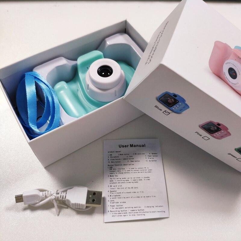 2-дюймовый HD экран аккумуляторная цифровая мини камера дети мультфильм милые камеры игрушки наружные фотографии реквизит для ребенка подар...