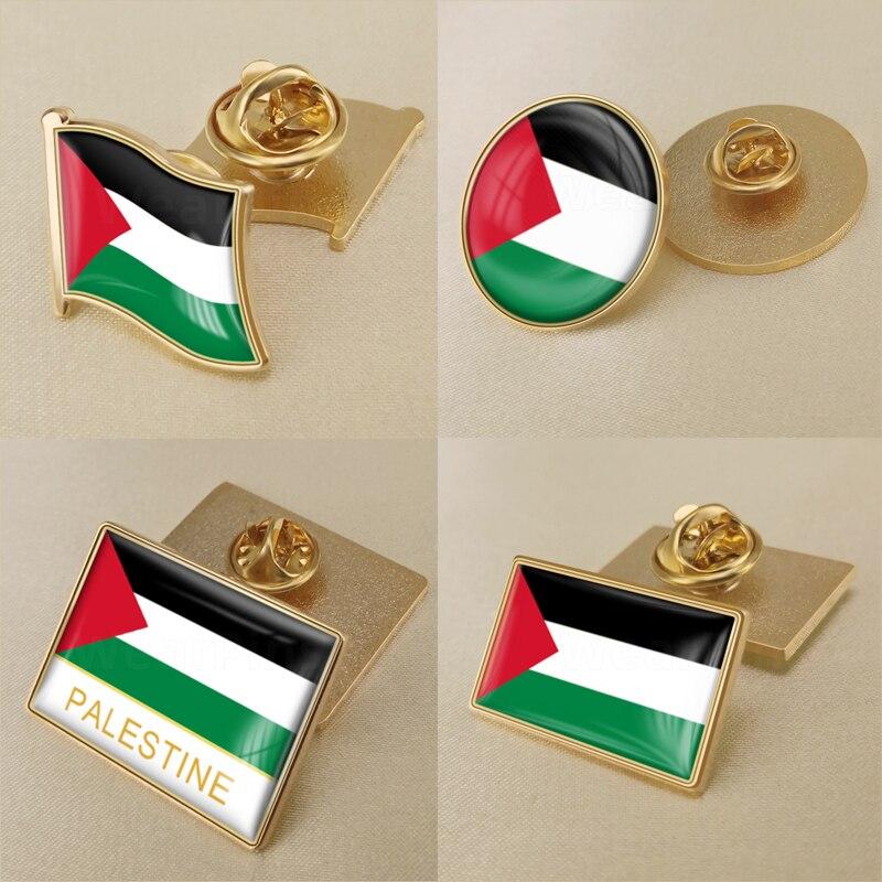 Герб Палестина палестинцев карта национальный флаг эмблема брошь значки нагрудные знаки