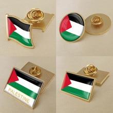 Brasão de armas da palestina palestinos mapa bandeira nacional emblema broche emblemas lapela pinos