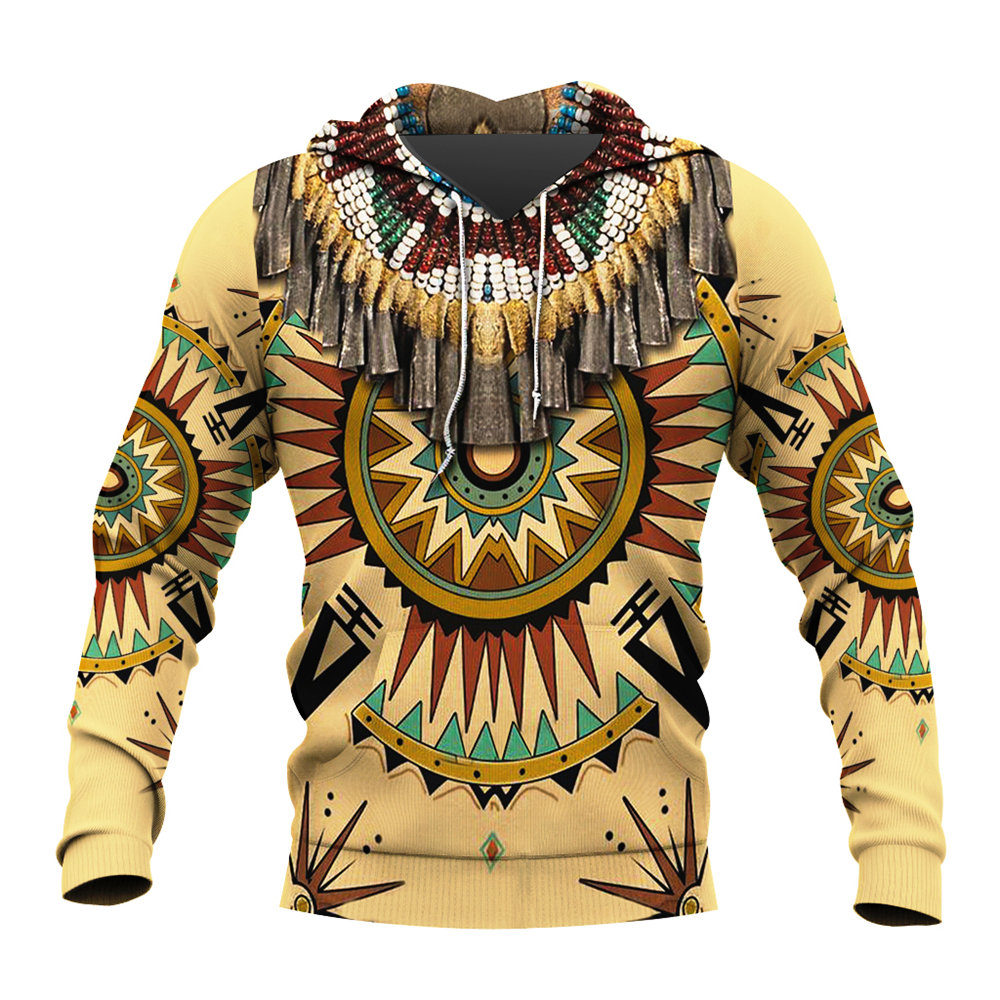 Native Indian 3D Printed Men Hoodies/sweatshirts Harajuku Fashion Hooded Autumn Long Sleeve Pullovers Unisex Casual Streetwear