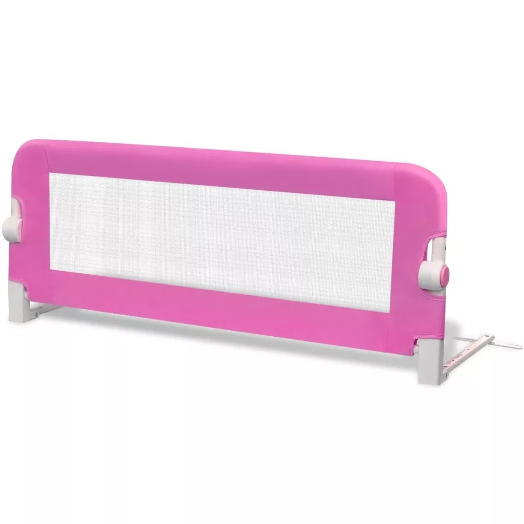 High Quality Children Safety Bed Rail VidaXL Toddler Safety Bed Rail Pink/Blue Foldable Bed Rail Make Baby Safe Babyroom Tools