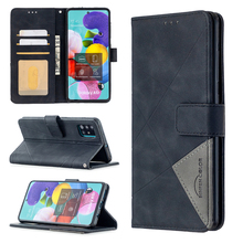 Geometric prism Leather case For Samsung Galaxy S20 S10 S10E S9 Plus Ultra Lite Note 20 10 Pro Flip back Cover Phone Magnet Case