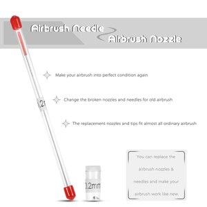 Image 4 - 0.2/ 0.3/0.5mm vaso per la pulizia dellaerografo supporto per spazzola ad aria in vetro vaso di vernice pulito bottiglia pistola a spruzzo strumenti di lavaggio Set di spazzole per ugelli ad ago