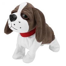 Новинка, Электронные Домашние животные, Звуковое управление, робот, собаки, милая плюшевая собака, электронная собака, лай, подставка для прогулок, игрушки для детей, подарок на день рождения