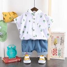 Neue Baby Jungen Baumwolle Tuch Sommer Kinder Drucken T Shirts Shorts 2 Teile/sätze Kleinkind Kids Fashion Kleinkind Trainingsanzüge 1 2 3 4 JAHRE
