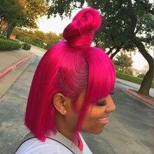 Perucas de cabelo curto para mulheres negras com estrondo beaudiva loira amarelo roxo brasileiro em linha reta perucas de cabelo curto bob