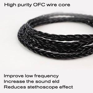 Image 2 - JCALLY 5N טהור כסף מצופה אוזניות שדרוג כבל עם מיקרופון 3.5mm MMCX/QDC/0.78/0.75mm 2Pin עבור KZ TFZ T2 CCA EDX AS16