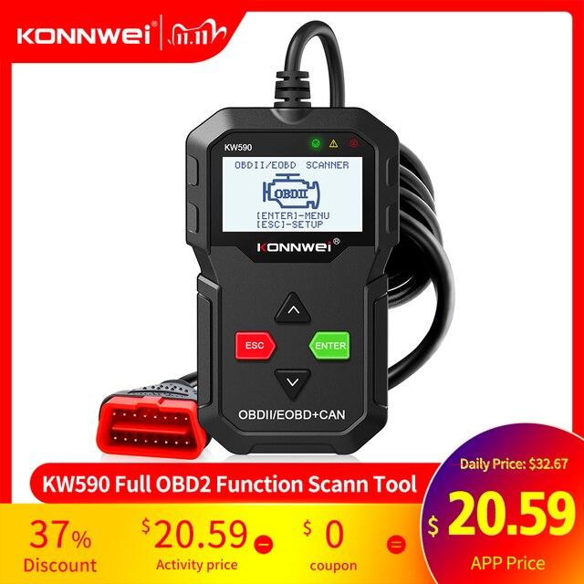 2020 Strumento di Diagnostica OBD KONNWEI KW590 Lettore di Codice Auto automotive OBD2 Scanner Supporto Multi Marche di Automobili e lingue di Trasporto trasporto libero