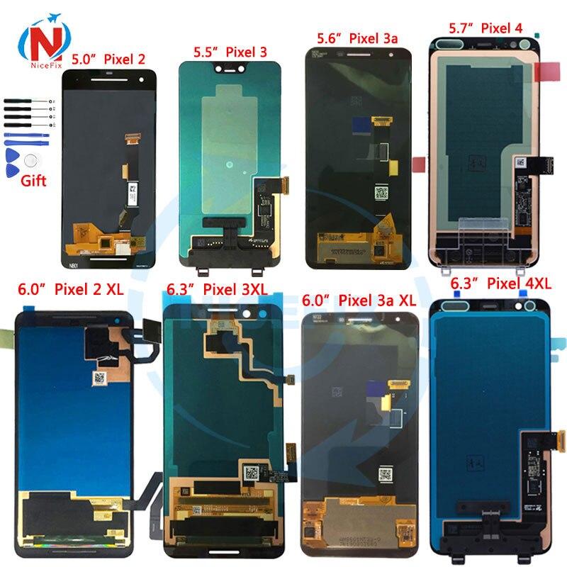 Para O Google Pixel 2 3 Pixel 3A 4 LCD Display Touch Montagem Digitador Da Tela de LCD Para Pixel 2XL 3XL Pixel 3AXL 4XL Screen display