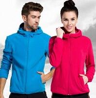 Большие размеры, однотонное зимнее женское флисовое пальто с капюшоном, термальное Спортивное теплое пальто с подогревом для кемпинга, пеш...