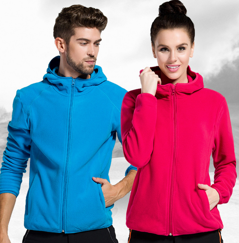 Plus Size Solid Winter Women Man Polar Fleece Softshell Hooded Coat Thermal Outdoor Sport Warm Heated Camping Hiking Jackets