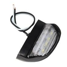 10-30 в автомобиль 4 Светодиодный светильник номерного знака задний номер лампы для грузовик, прицеп, лодка, грузовик