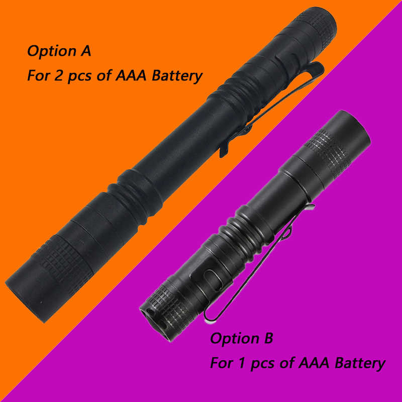 Minilinterna LED Litwod Z20 Q5 de 2000LM, linterna de bolsillo, resistente al agua, linterna con batería AAA, Led potente para caminar