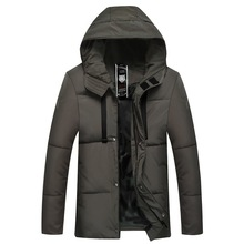 Winter mens cotton-padded business casual warm padded coat hooded jacket clothes  men winter coats