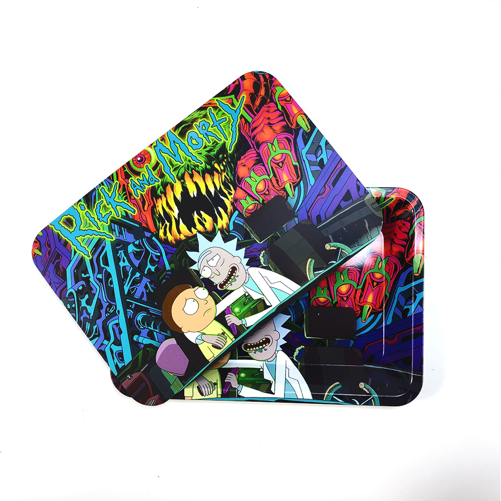 18x12.5cm Rolling Tray Leak Proof Magnetic Lid Herbal Tobacco Storage Cover Hand Cigarette Paper Plate Smoking Pipe Accessories 1