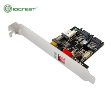 IOCREST 1:2 (2x1) Internal SATA II Port Multiplier (PM), Bracket Mounting, RAID 0, 1, JBOD цена