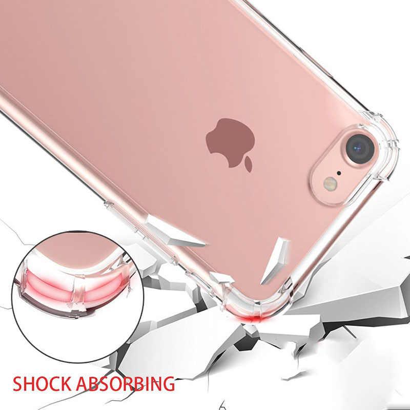 Funda transparente para IPhone 11Pro Max 2019 X XR XS Max 8 7 6 6S Plus 5 funda para teléfono a prueba de golpes