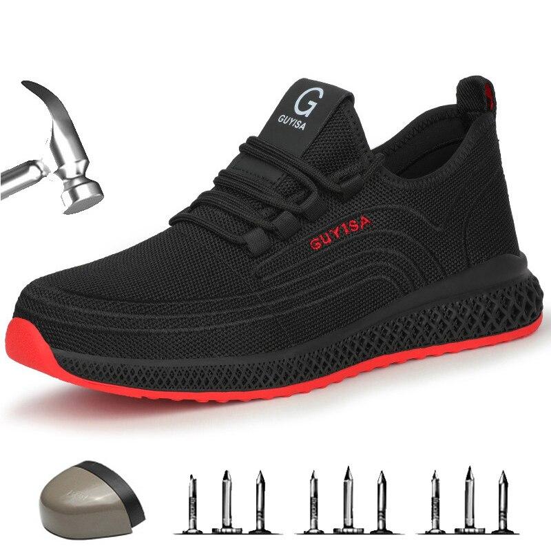 Мужские кроссовки с защитой от проколов, защитные кроссовки со стальным носком, размеры 39 S
