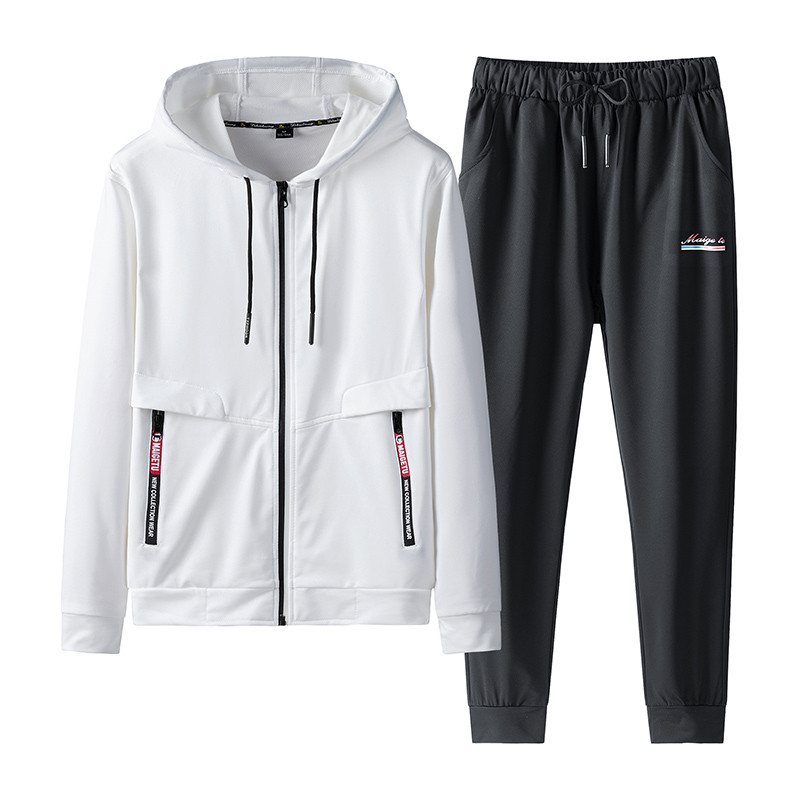 New Arrival Men's Sets Spring Autumn Hoodies Two Piece Sweatshirt+Pants Male Sportswear Suit Casual Tracksuit Plus Size 7XL 8XL