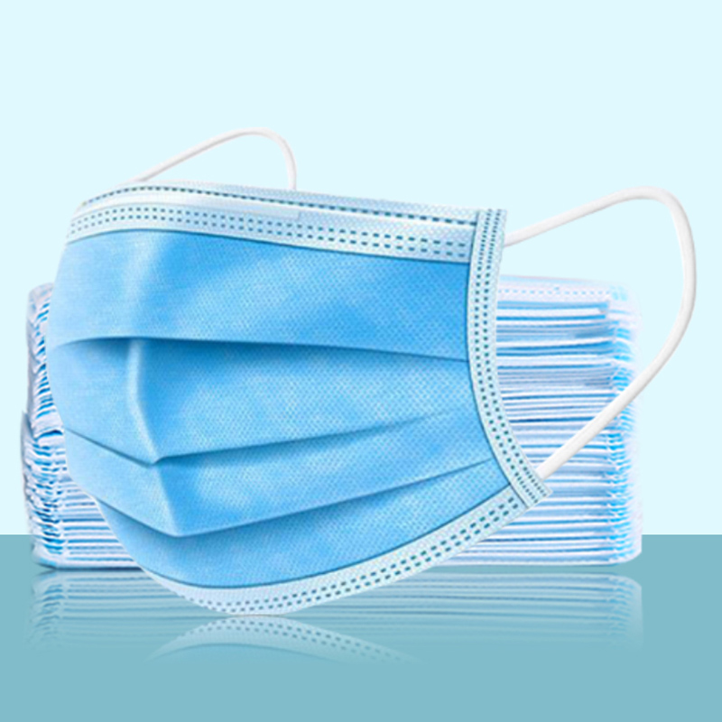 50Pcs/Lot Disposable Mask Anti Pollution Non-woven Fabric Masks Dustproof Health Care Face Mask Blue Adult Unisex Protection