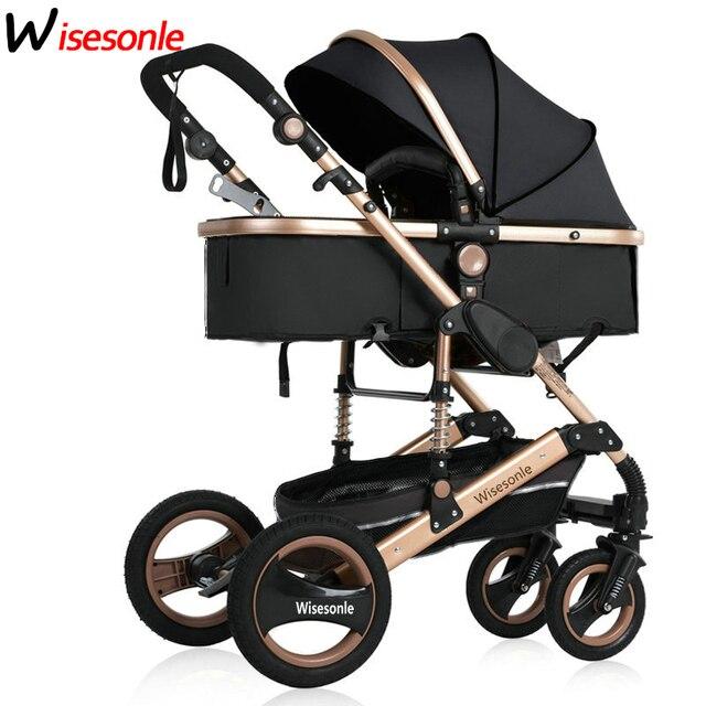 2020 novo carrinho de bebê 3 para 1 alta paisagem carrinho de bebê dupla face crianças frete grátis em quatro estações do ano em rússia 3